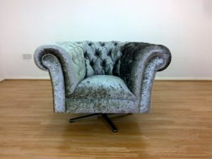 crushed velvet swivel chub chair mercury 9
