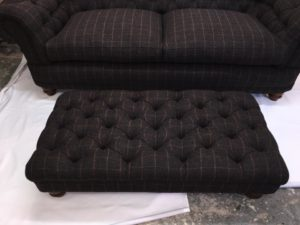 huntsman check peatland harris tweed main sofa 7