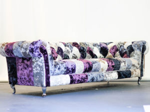 harlequin crushed velvet sofa front 1