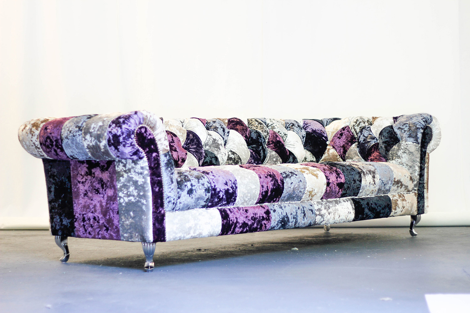 Harlequin Crushed Velvet Sofa Aged To Perfection Upholstery