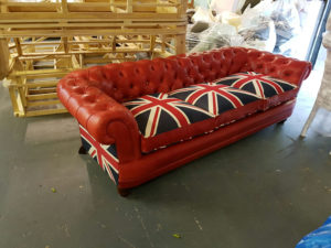 red leather union jack sofa 4