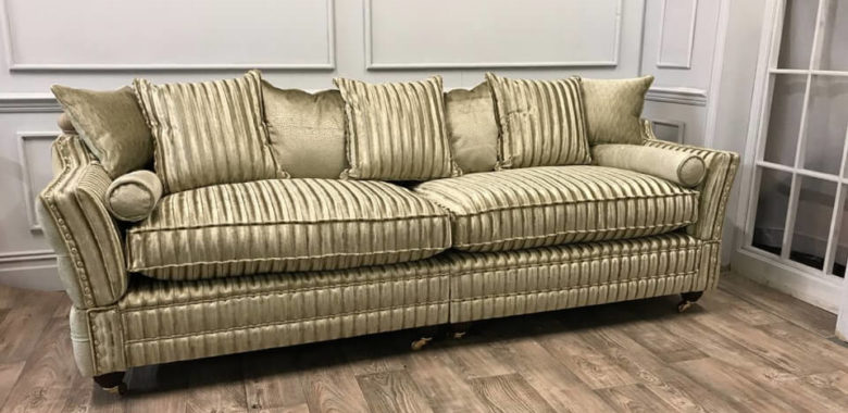 gold-settee